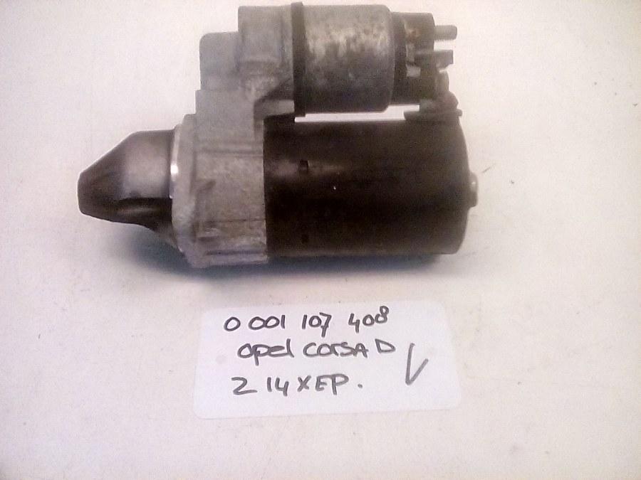 0 001 107 408 Start Motor Bosch Opel Corsa D Z14XEP (2008)